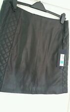 BNWT Marks and Spencer The Collection soft Real Leather Mini Skirt - Size 14