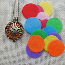 Locket Necklace Fragrance Perfume Essential Oil Aromatherapy Diffuser Pendant#12