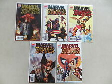 MARVEL ZOMBIES 5 ISSUE COMIC SET 1-5 COMPLETE SPIDER-MAN KIRKMAN #1 RARE 4TH PNT