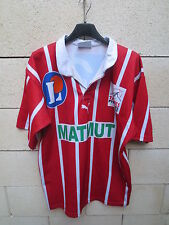 VINTAGE Maillot rugby TARBES PUMA shirt Matmut collection L