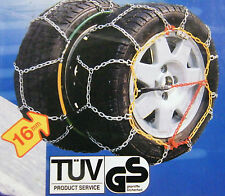 Heavy duty Snow chains 215/60 R 17 with O-Norm Volkswagen VW T5 BMW X3