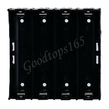 Black Plastic Battery Storage Case Box Holder For 4X Rechargeable 18650 3.7V DIY