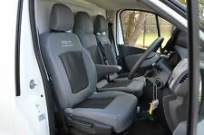 Opel Vivaro Business Plus 3rd gen grey & black van seat covers.