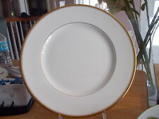 """1 Royal Worcester Dinner Plate """"VICEROY"""" White w/Gold Rim"""