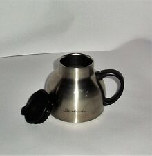 Vintage Starbucks Stainless Steel Chubby Travel Mug Cup with Lid  NICE 18 - 8