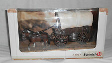 "Schleich Horses Pioneer Cover Wagon Retired 14"" X 5.75"" NIB Rare Play Set 42024"