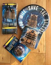 DOCTOR WHO DALEK TARDIS Party Pack / Kit- Plates, Napkins, Straws, Cupcake Cases