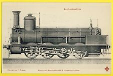 cpa LOCOMOTIVE pour TRAIN de Marchandise Machine SCHNEIDER N° 731 LE CREUSOT