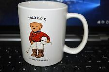 Ralph Lauren Polo Match Bear mug collectable coffee cup equestrian (1997)