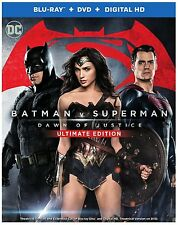 BATMAN V SUPERMAN: DAWN OF JUSTICE ULTIMATE EDITION Blu-Ray/DVD/Digital HD New