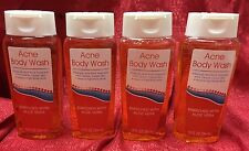 Lot of 4 Acne Body Wash Soap Salicylic Acid 2% Bath Shower Cleanser