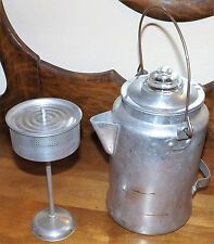 Vtg American Maid Aluminum Hinge Lid Coffee Pot Perolator Kitchen Camping 10 Cup