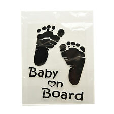 1 Pcs Warning Decal Funny Baby on Board Reflective Material Car Sticker BD