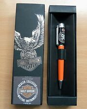 WARRs HARLEY DAVIDSON London 90th Anniversary Vintage Orange Pen Boxed Souvenir