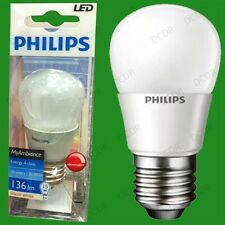 2x 3W Philips Dimmable LED Ultra Low Energy Golf Light Bulbs, ES, E27 Screw Lamp