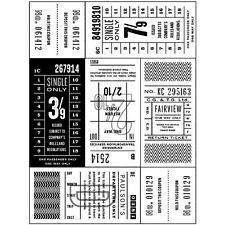 Basic Grey Hero Arts Carte Postale Coupon Background Unmounted Stamps