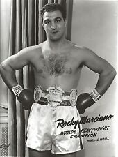 ROCKY MARCIANO 8X10 PHOTO BOXING PICTURE CLOSE UP WITH BELT HEAVYWEIGHT CHAMPION
