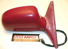 Toyota MR2 MK2 Drivers Side Retractable Door Wing Mirror Red 3J6 -  Right Side