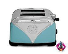 VW VOLKSWAGON CAMPER VAN STAINLESS STEEL TOASTER BLUE