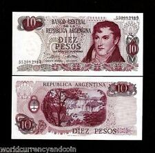ARGENTINA 10 PESOS P295 1973-1976 SAN MARTIN WATER FALL UNC CURRENCY MONEY NOTE