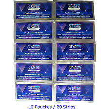 Crest3D Whitestrips Professional Effects Teeth Whitening 10 Pouches 20 Strips US