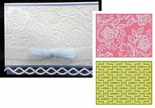 TEA PARTY roses embossing folders Lifestyle Crafts EF0013 Cuttlebug Compatible