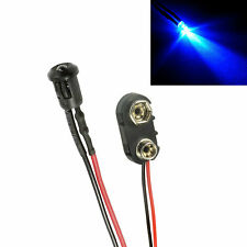 Flashing Blue Small 3mm LED + PP3 Connector Car, Boat, Caravan Dummy Fake Alarm