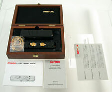 MINOX LX Edition 2000 limited black gold neu new Germany classic 8x11 camera