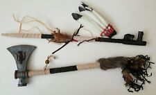 TOMAHAWK & PEACE PIPE NATIVE AMERICAN INDIAN STYLE ORNAMENTS (NON FUNCTIONING)