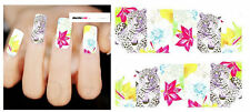 Nail Art Sticker Water Decals Transfer Stickers Leopard & Leaves (DX1488)