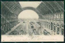 Torino Città Stazione Treni ABRASA cartolina KF2181
