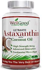 Astaxantina 30 mg (MICRO alghe) con Olio di Cocco 90 x VEGAN da wellgood
