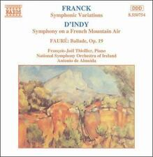 Franck: Symphonic Variations; D'Indy: Symphony on a French Mountain Air, New Mus