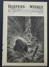 Harper's Weekly Cover-Page A4#8 Jul 1883 The Fall of the Bowlder