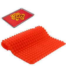 New Pyramid Pan Fat Reducing Silicone Mat Oven Microwave Baking Kitchen