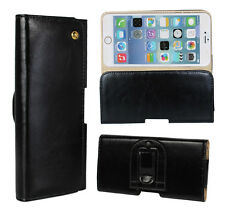 Black Genuine Leather Tradesman Handyman Belt Clip Pouch Case Cover for iPhone 6