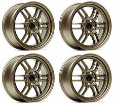 "ULTRALITE F1 17"" 7.5J ET42 5x114.3 FLAT BRONZE ALLOY WHEELS RPF1 STYLE JR7 Y3197"