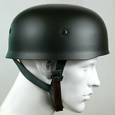WWII WW2 GERMAN FALLSCHIRMJAGER M38 BLACK STEEL HELMET With Leather Liner