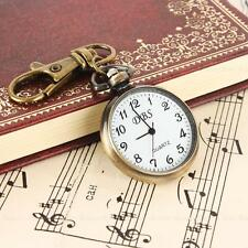 Vintage Antique Round Classical Pocket Key Chain Watch Pendant Quartz Gift