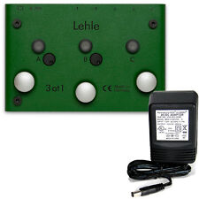 Lehle 3 at 1 SGoS Switcher - 3 instruments to 1 output w/9v power supply $0 ship