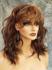 REMY HUMAN HAIR SKIN TOP WIG SEXY STUNNING LONG BEACHY WAVES  *CLR P4.27  434
