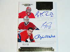 2011-12 DOMINION PEN PALS TRIPLES CAREY PRICE PATRICK ROY R. VACHON AUTO 01/10 !