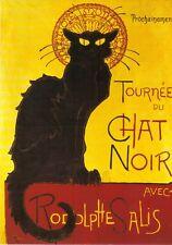 Grußkarte: La Chat Noir Cabaret. Reprint eines Posters von Théophile Steinlen