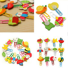 Cartoon Animals Paper Note Pin Clips Bookmarks Paperclip School Supply Useful