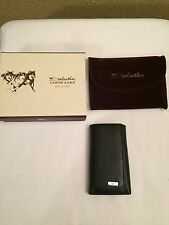 Septwolves Wallet BlackTri Fold swleather Snap Mens Never Used Key Cash Card