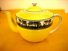 ART DECO FOLEY CHINA SILHOUETTE TEA POT 1.5Pt very fine crazing on lid& handle
