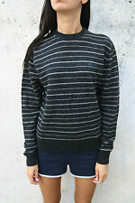 Geox Casuals Crew Neck  Knitted Wool Striped Grey Light charcoal Jumper L