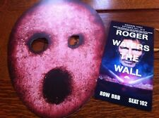 ROGER WATERS THE WALL NYC  PREMIERE Movie TICKET + Prop MASK from Athens Filming