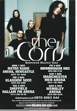 CORRS Borrowed Heaven tour 2004 UK FLYER / mini Poster 8x6 inches