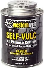 Cold Vulcanizing Tire Tube Patch Repair Cement 8oz Brushtop Can Westernweld SV-8